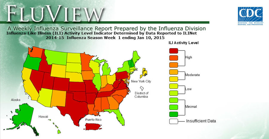 The breakout of influenza in the